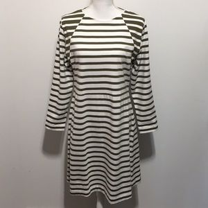 J. Crew Long Sleeve Striped Dress